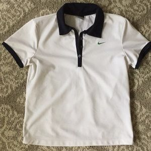 Excellent used condition Nike gold top size small